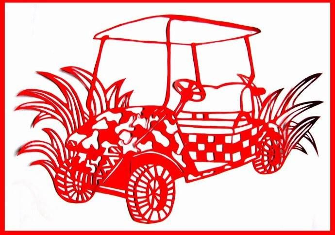 车型剪纸(ballbet贝博网站高尔夫车)