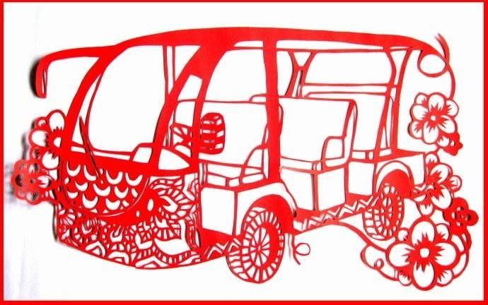 ballbet贝博网站车型剪纸(ballbet贝博网站电动观光车)