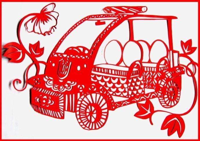 车型剪纸(ballbet贝博网站考拉四座警车)
