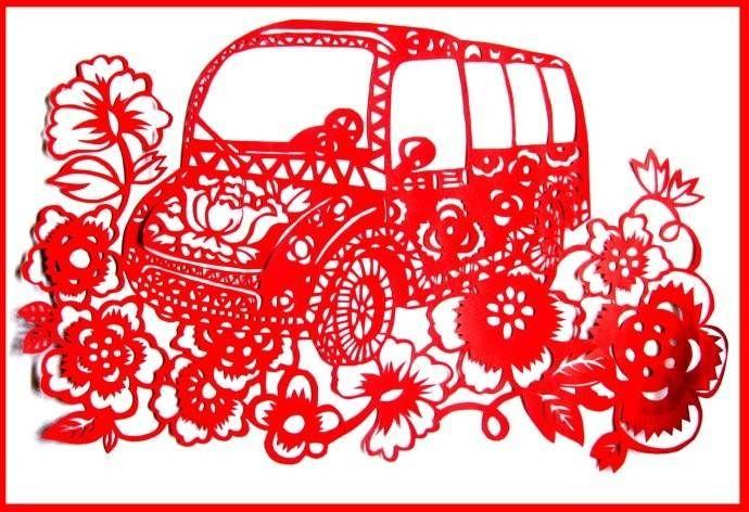 车型剪纸(ballbet贝博网站电动封闭公交车)