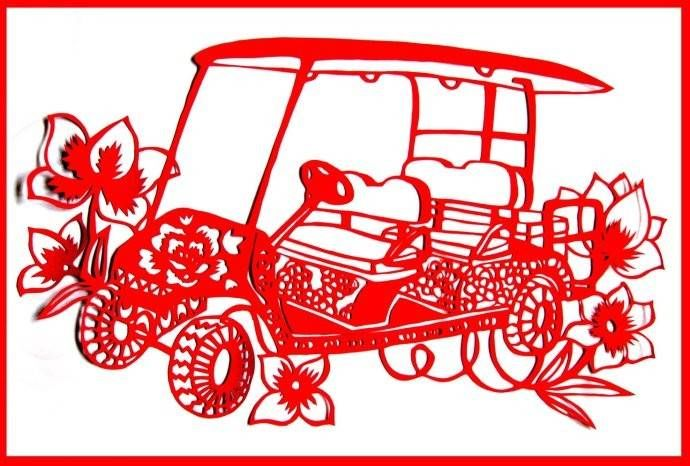 车型剪纸(ballbet贝博网站电动高尔夫)