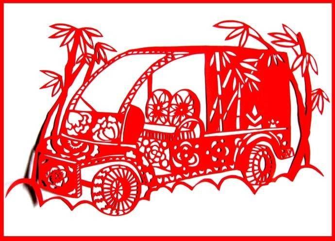 车型剪纸(ballbet贝博网站垃圾环卫车)
