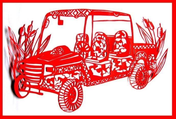 车型剪纸(ballbet贝博网站电动工程车)